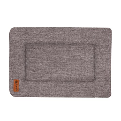 QIAOQI Dog/Cat Bed Reversible Machine Washable Pet Crate Mat Kennel Pad LinerSmall Grey by QIAOQI