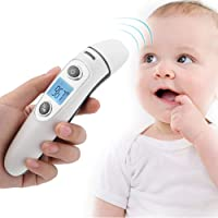 Baby Thermometer,Oududianzi Digital Infrared Thermometer,Forehead and Ear Thermometer with Fever Alarm and Memory Function, Accurate Real-Time Display, Ideal for Baby Kids and Adults