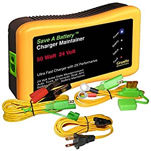 amazon com battery saver 2365 24 24v 50w quick charger and auto