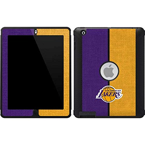 Skinit Los Angeles Lakers Canvas OtterBox Defender iPad 2/3/4th Gen Skin for CASE - Officially Licensed NBA Skin for Popular Cases Decal - Ultra Thin, Lightweight Vinyl Decal Protection