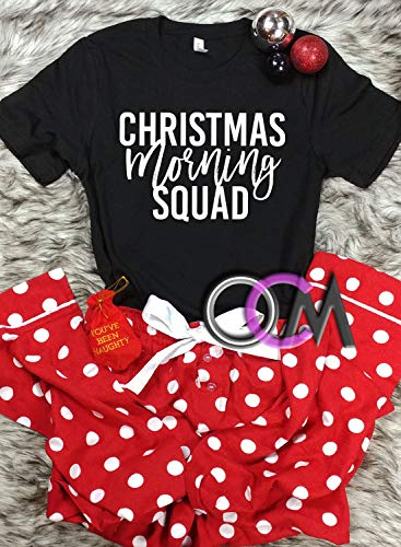 Matching Christmas Shirts For Family.Amazon Com Christmas Morning Squad T Shirt Squad Christmas