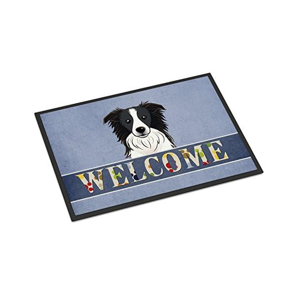 Caroline's Treasures BB1427MAT Border Collie Welcome Indoor or Outdoor Mat 18x27, 18H X 27W, Multicolor 1
