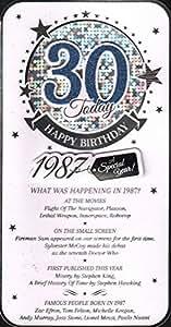 30hoy feliz cumpleaños 1987Tarjeta de macho