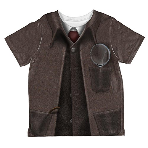 Holmes Costumes (Halloween Sherlock Holmes Costume All Over Toddler T Shirt Multi)