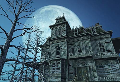 Yeele 10x8ft Mysterious Haunted House Background for Photography Halloween Full Moon Moonlight Horror Night Photo Backdrop Party Decoration Kids Boys Adult Portrait Booth Shoots Studio Props