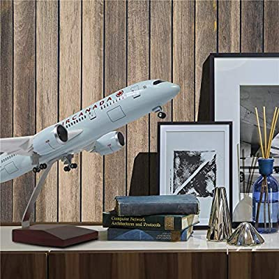 """18"""" 1:130 Airplane Model Canada Boeing 787 with LED Light(Touch or Sound Control) for Decoration or Gift"""