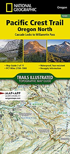 Pacific Crest Trail, Oregon North [Cascade Locks to Willamette Pass] (National Geographic Topographic Map Guide) ()