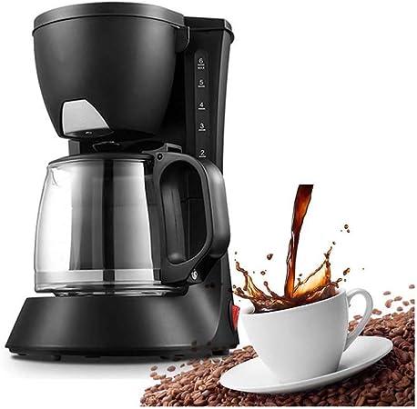 LYYJIAJU Cafetera, Cafetera Goteo 0.6L garrafa de Cristal y Botones de One Touch, Máquinas de café con la decoración de Acero Inoxidable Máquinas de café: Amazon.es: Hogar