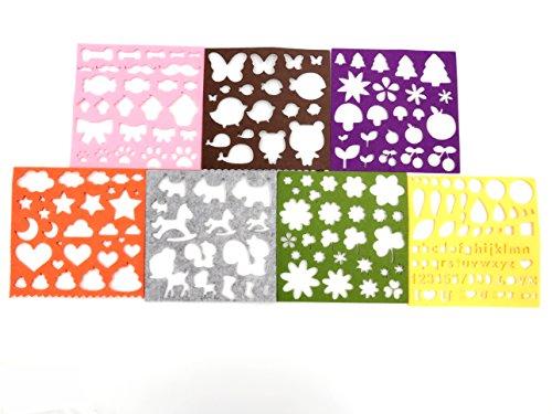 7 Sheet Hand Handicraft Wool Felt Woolen Shaping DIY Kits Tools Mould Tree,Clouds,Bone,Butterfly,Flower,Animals ,ect
