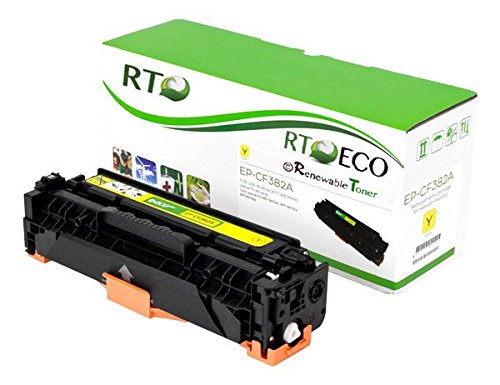 Renewable Toner Compatible HP 312A CF382A Yellow Toner Cartridge 2.7k Yield for HP Color LaserJet Pro MFP M476nw MFP M476dw MFP M476dn
