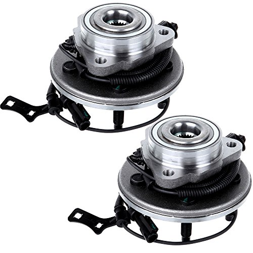 ECCPP 2 pcs New Front Wheel Hub and Bearing Assembly Explorer, Explorer Sport, Trac, Mountaineer 5 Lugs W/ABS (Wheel Hub 2 Pcs Car)