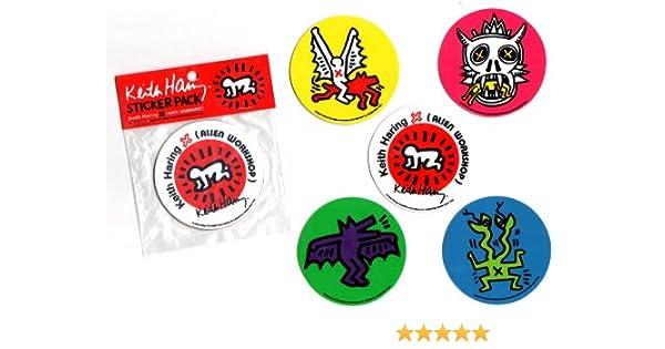 Alien Workshop X Keith Haring adhesivo Pack – 5 para tabla de ...