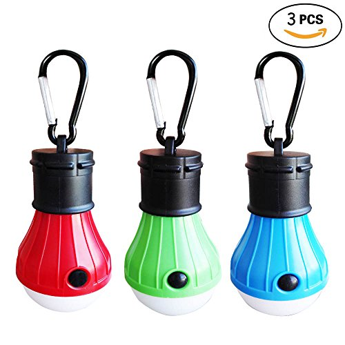 Qorol Portable Outdoor Waterproof Tent LED Light Bulb YG 310 Emergency Light Lamp Lantern for Camping,Hiking,Fishing,Hunting,Backpacking, Mountaineering activities(Pack of 3)