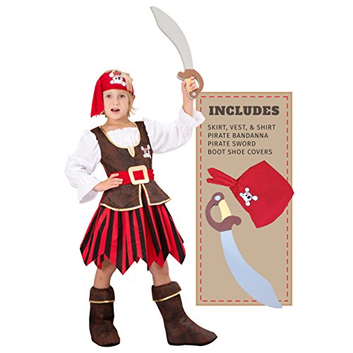 Spooktacular Creations Deluxe Pirate Girl Costume Set (S(5-7))