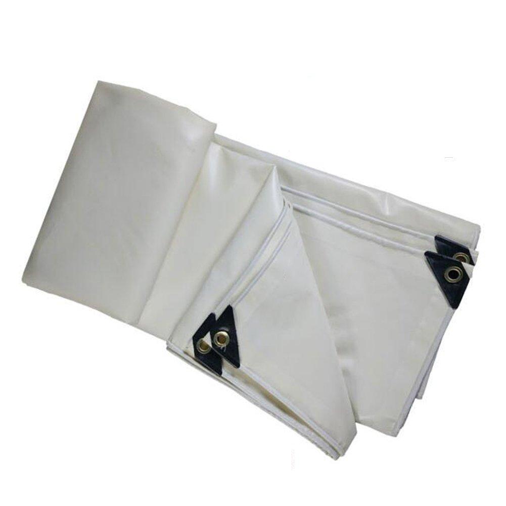 ZEMIN オーニング サンシェード ターポリン 防水 日焼け止め テント シート 防風 ルーフ 保護 厚い ポリエステル、 白、 500G/利用可能な17のサイズ (色 : 白, サイズ さいず : 6X6M) B07D4F3TG5 6X6M|白 白 6X6M
