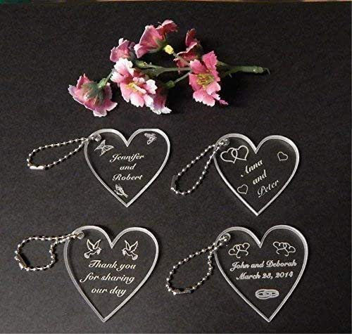 Favors Customized Tag Personalized Engraved Love Small Heart Wedding Gift 100pcs