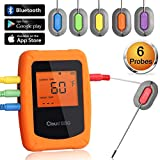 Bluetooth Meat Thermometer Wireless Digital BBQ Thermometer Instant Read Cooking Food Thermometer