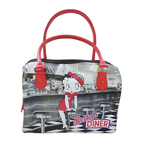 Betty Boop Bolso de mano–�?Betty' s Diner diseño Bowler bolsa/bolsa de bolos para hombre–Retro bolsa–producto con licencia oficial