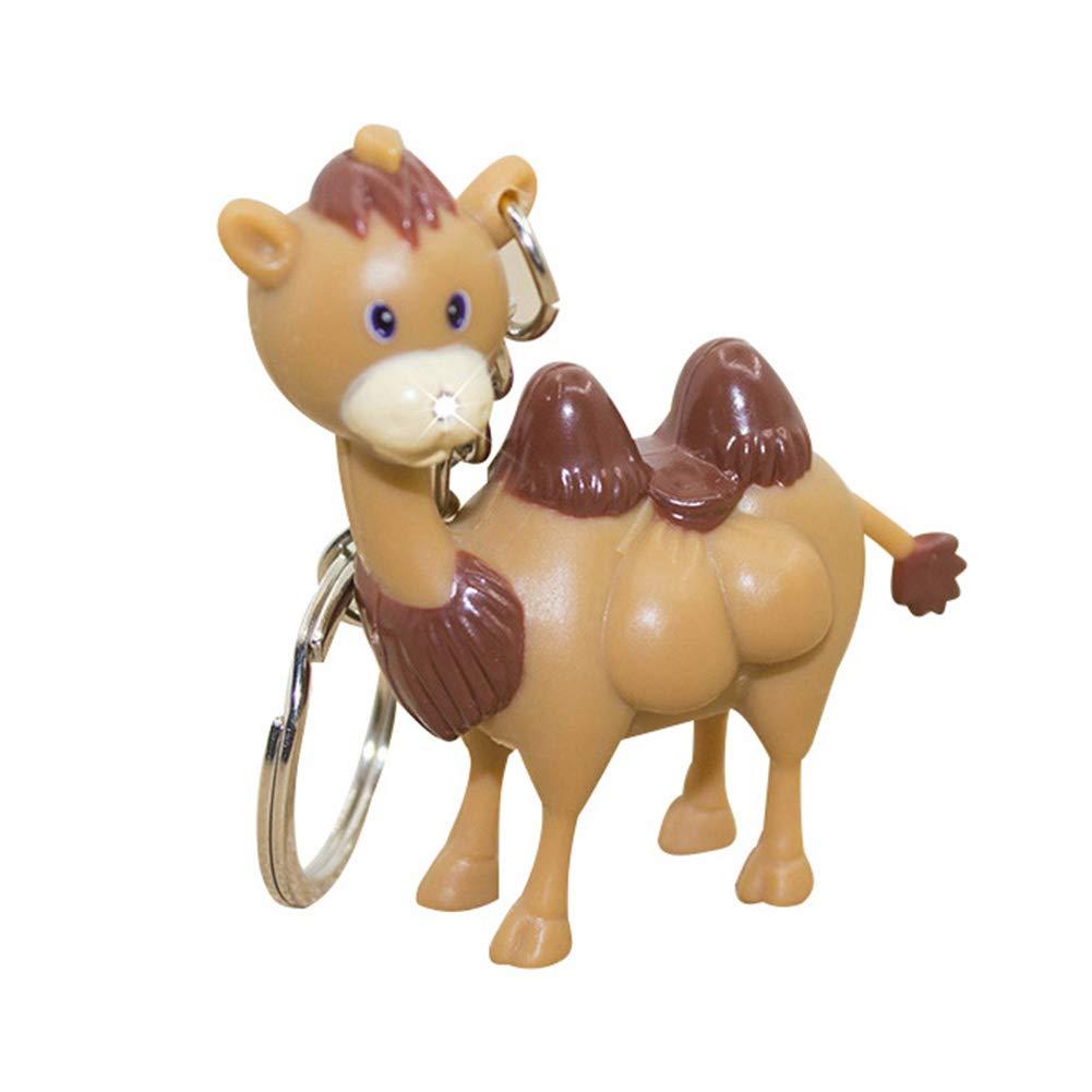 Yongqxxkj - Llavero con diseño de camello de dibujos ...