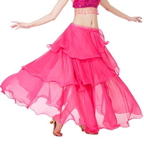 Lady Pink Ventre Dance Danza Spirale Nero Gonne La Circle 3 Hot Da Dark Best Large nbsp;layer Donna Costume Del Per Black zt0RRwqd