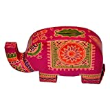 Purpledip Piggy Bank Purse Shaped as an Elephant made of Cruelty Free Leather, Strong & Sturdy (10598)