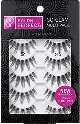 001b38dad6d Salon Perfect Perfectly Natural Multi Pack Eyelashes, 615 Black, 5 Pairs