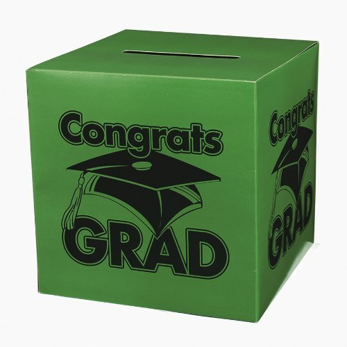 Congrats Grad Green Card Box by Fun Express