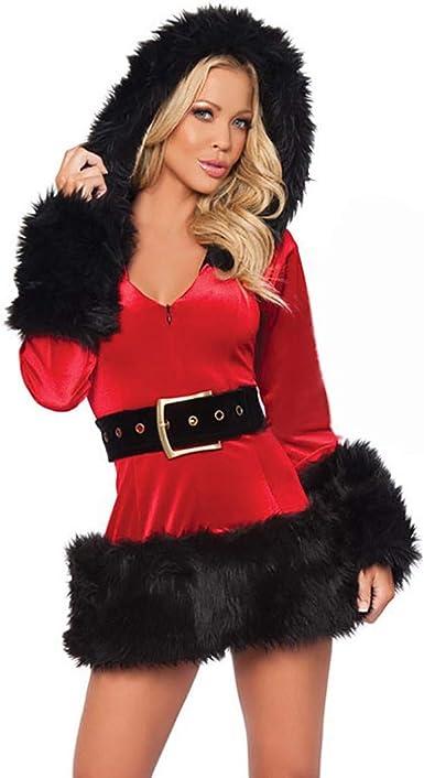 Vestido Con Capucha Mujer Disfraz de Mamá Noel para Navidad el Año ...