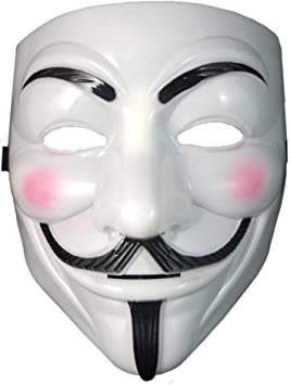 Dream Loom V For Vendetta Mask White Anonymous Guy Fawkes Halloween Costumes Masquerade Party Face Cosplay Props