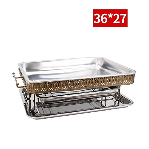 Grills Out Grills Stainless steel grilled fish stove Charcoal alcohol grill commercial charcoal BBQ stove thickened grilled fish dish seafood BIG Coffee plate , 3 by HomJo