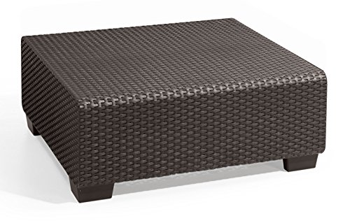 - Keter Salta Coffee Table Modern All Weather Outdoor Patio Garden Backyard Furniture, Rich Brown