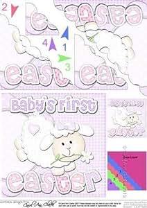 De niña el primer cordero de Pascua Felties Vieira de la esquina por Carol Clarke