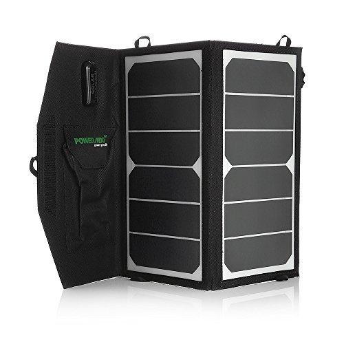 Poweradd 14 W Faltbar Solar Ladegerät mit USB Anschluss für Handys, Smartphones, Bluetooth Lautsprecher, externe Akkus und andere USB-Geräte (14 Watt)