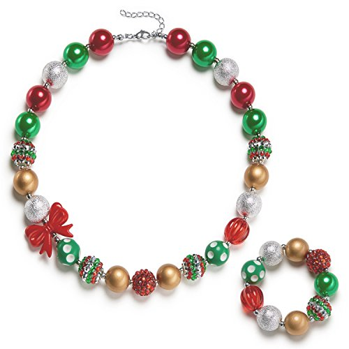 (vcmart Girls Holiday Bubbegum Necklace with Gift Box)