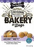 "Three Dog Bakery Assort""Mutt"" Cookie Assortment, Oats & Applesauce, Peanut Flavor & Vanilla Flavor Cookies, Baked Dog Treats, 2 Pounds For Sale"