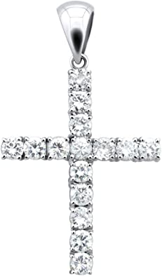 Cubic Zirconia Pendant 925 Sterling Silver Polished With CZ