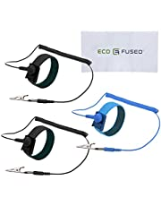 Anti Static Wrist Straps - 3 Pack - Reusable Anti-Static Wrist Straps Equipped with Grounding Wire and Alligator Clip - Enables You to Ground Yourself While Working on Sensitive Electronics