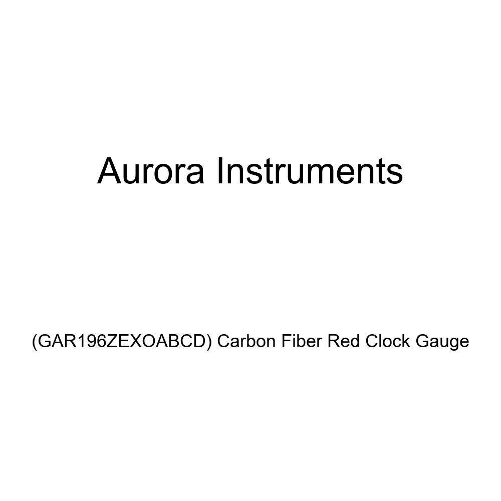 GAR196ZEXOABCD Carbon Fiber Red Clock Gauge Aurora Instruments