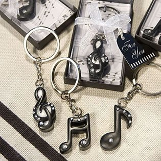 Musical Note Key Chain Favors - 27 count -