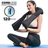 LiBa Cordless Shiatsu Neck Shoulder Back Massager Belt with Heat - Rechargeable Use Unplugged, Portable Full Body Massage Relieving Pain Sore Muscles