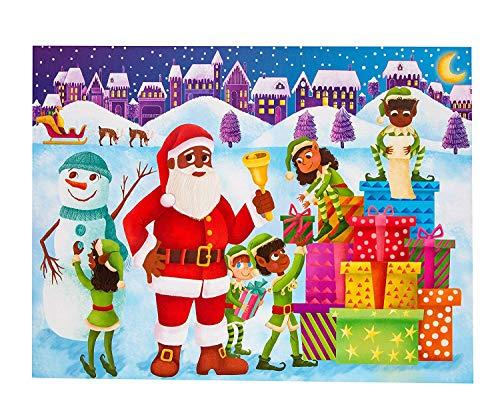 [해외]Little Likes 아동용 장신구 달력 코카시아 산타 - 크리스마스에 대한 재미있는 방법 / Little Likes Kids Children`s Advent Calendar African American Santa - A Fun Way to Countdown to Christmas