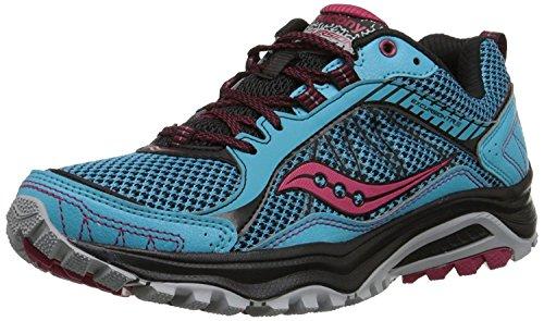 Saucony Women's Grid Excursion TR9 Trail Running Shoe, Blue/Black/Red, 36 B(M) EU/3.5 B(M) UK