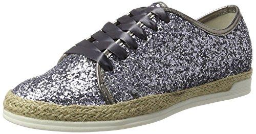 Jenny Long Island - Zapatos Derby Mujer Grau (Stahl)