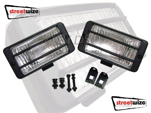 Streetwize 12V 4.5 x 2.5 inch Halogen Rectangle Driving Lamps SWDL2