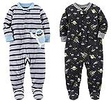 Carter's Boys' 2-Pack Fleece Pajamas Grey Yeti Black Space 6 Months