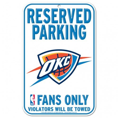 National Basketball Association Parking Sign, 11-Inch-by-17-Inch, OKC Thunder - BIG