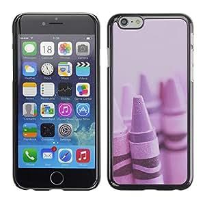 FlareStar Colour Printing Crayon Purple Artist Kids Drawing Art cáscara Funda Case Caso de plástico para Apple (4.7 inches!!!) iPhone 6