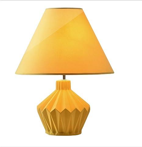 Lampade Da Lavoro Lampade Da Tavolo E Abat Jour Moderna Lampada Da Tavolo In Ceramica Gialla Lampada Da Tavolo Lampada Da Tavolo In Tessuto Amazon It Illuminazione