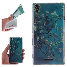 Sony T3 Case, Showing Totem Series Flexible Soft TPU Cover Protective Case For 5.3 inches Sony Xperia T3 (Apricot Tree)