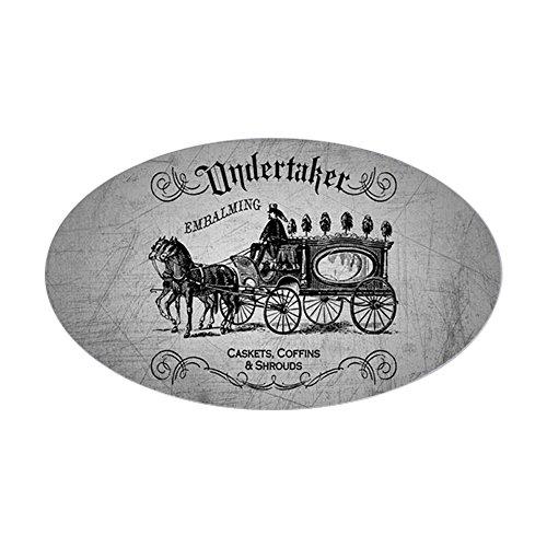 CafePress Undertaker Vintage Style Sticker Oval Bumper Sticker, Euro Oval Car -